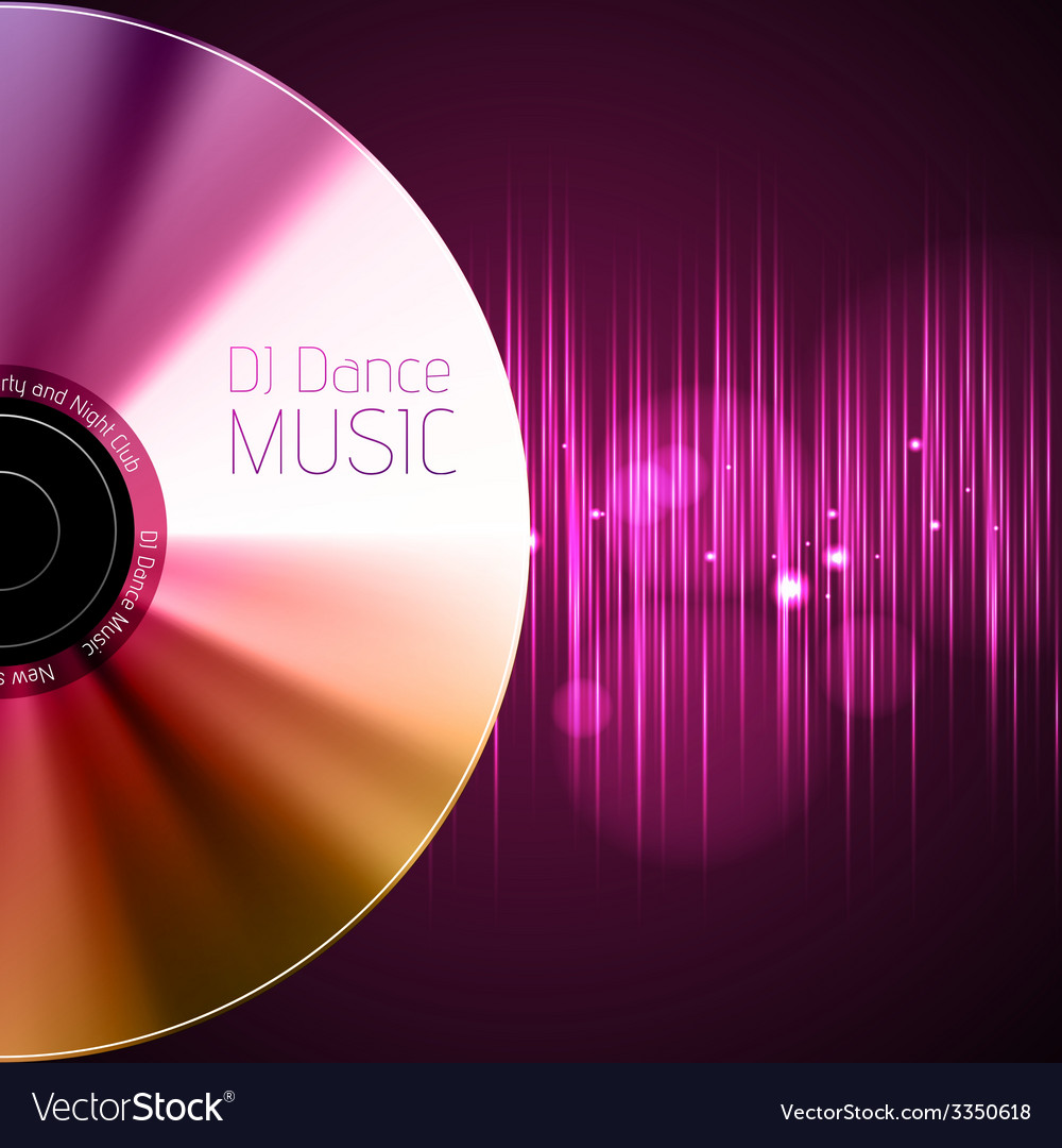 Disco abstract background record or disk vector | Price: 1 Credit (USD $1)
