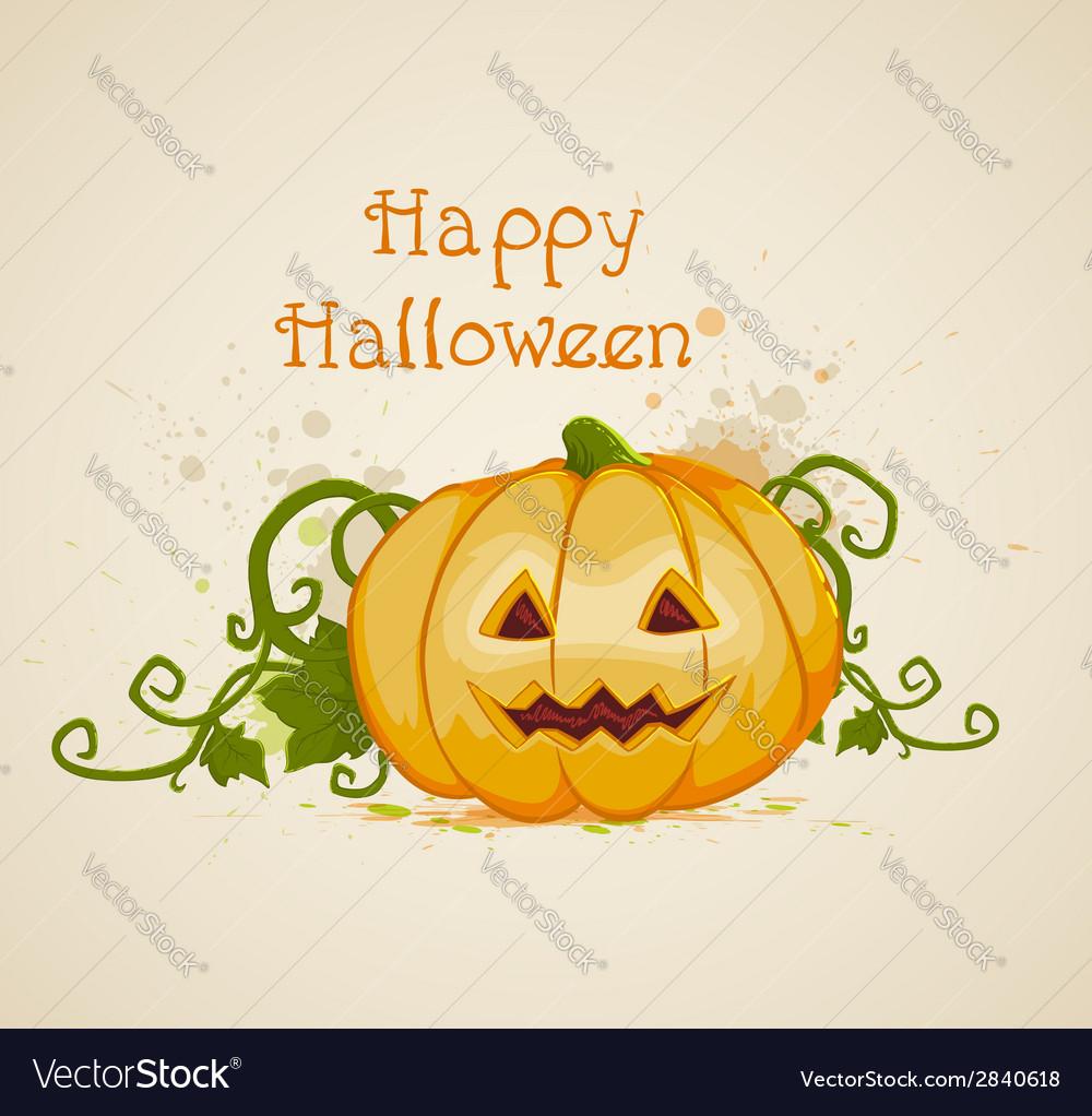 Halloween background with orange pumpkin vector | Price: 1 Credit (USD $1)