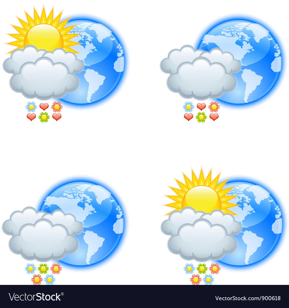Love weather icons vector | Price: 1 Credit (USD $1)