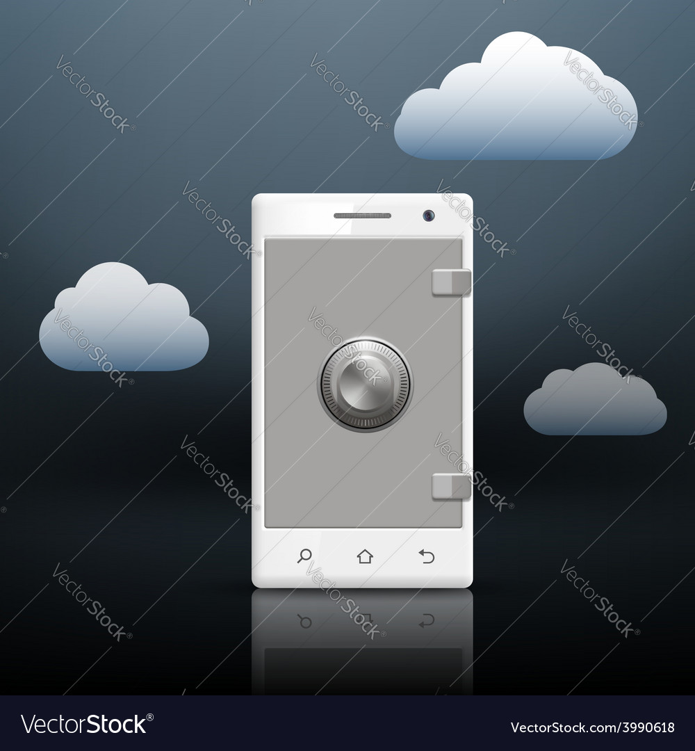 Protection of information on your smartphone vector | Price: 1 Credit (USD $1)