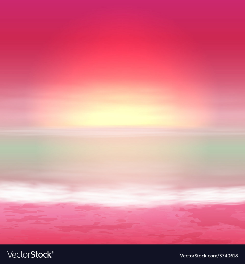 Sea perple sunset vector | Price: 1 Credit (USD $1)
