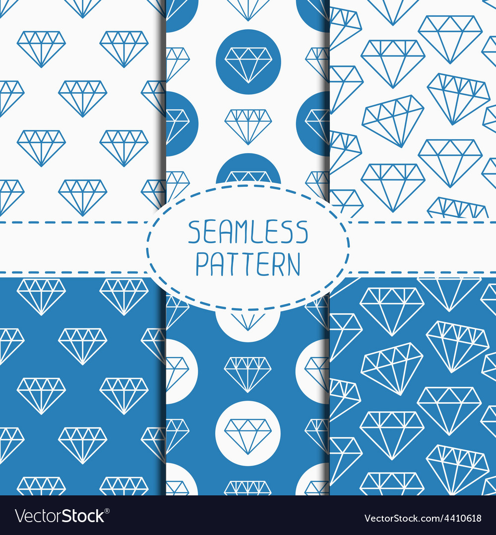 Set of blue hipster fashion geometric seamless vector   Price: 1 Credit (USD $1)