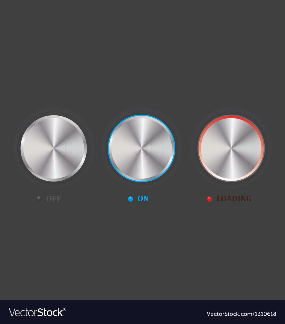 Set of knob vector