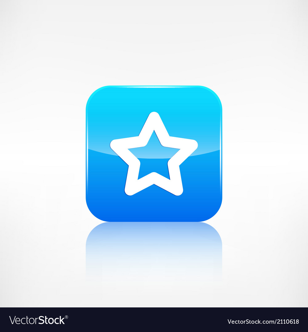 Star favorite sign web icon application button vector | Price: 1 Credit (USD $1)