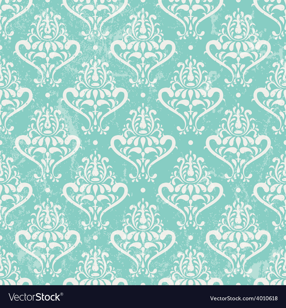 Turquoise vintage wallpaper vector | Price: 1 Credit (USD $1)