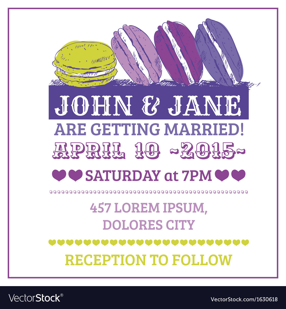 Wedding invitation card - macaroon theme vector | Price: 1 Credit (USD $1)