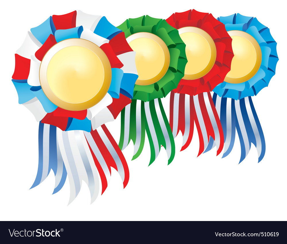 Award rosette set vector | Price: 1 Credit (USD $1)