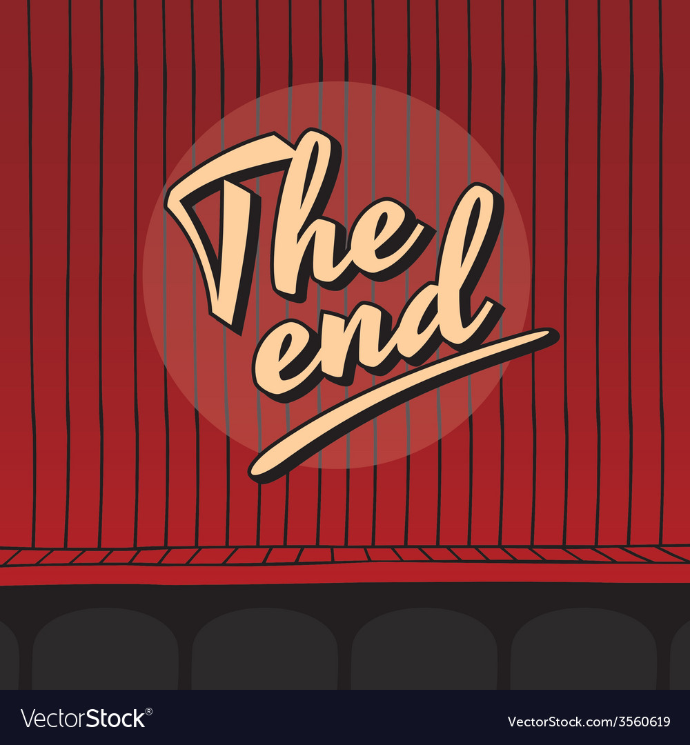 End live stage red curtain vector | Price: 1 Credit (USD $1)