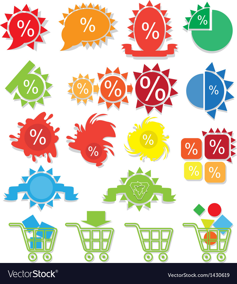 Icons online store vector | Price: 1 Credit (USD $1)
