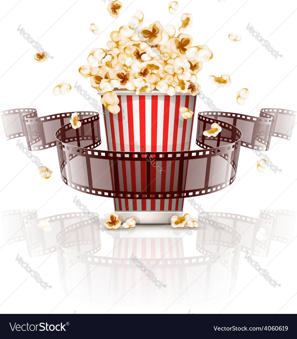 Jumping popcorn and vector | Price: 3 Credit (USD $3)