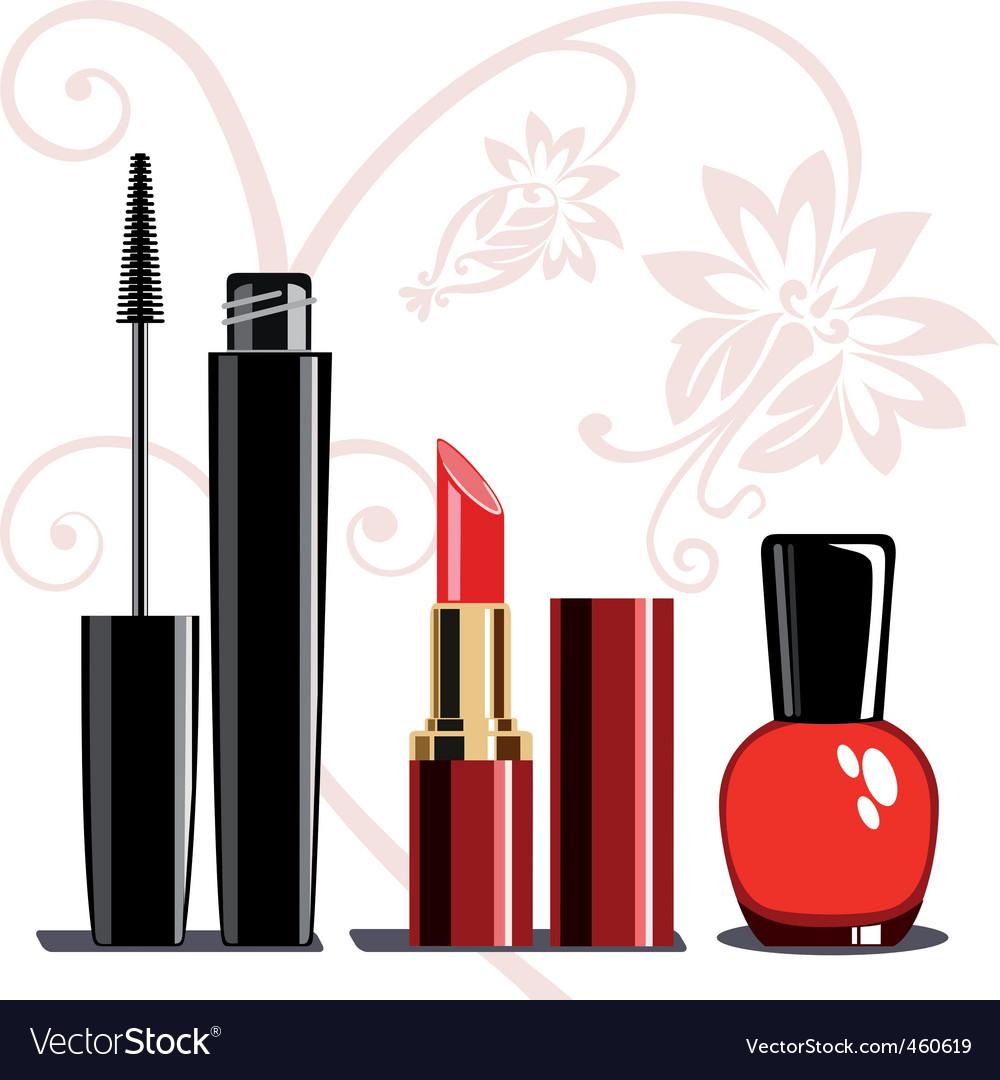 Makeup set vector | Price: 1 Credit (USD $1)