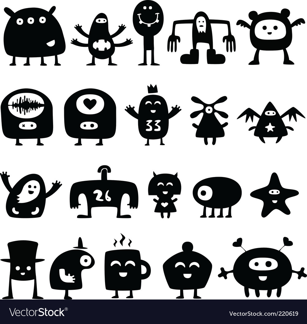 Monsters vector   Price: 1 Credit (USD $1)