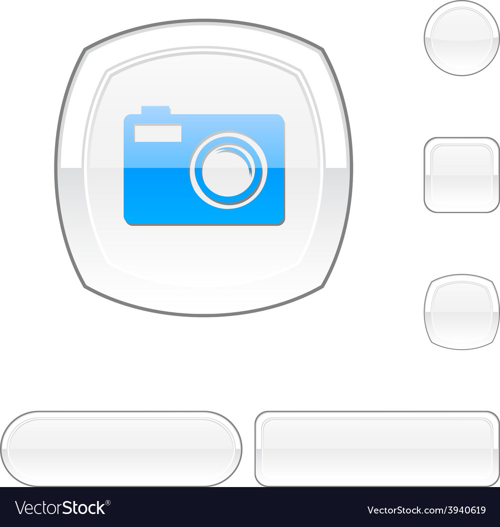 Photo white button vector | Price: 1 Credit (USD $1)