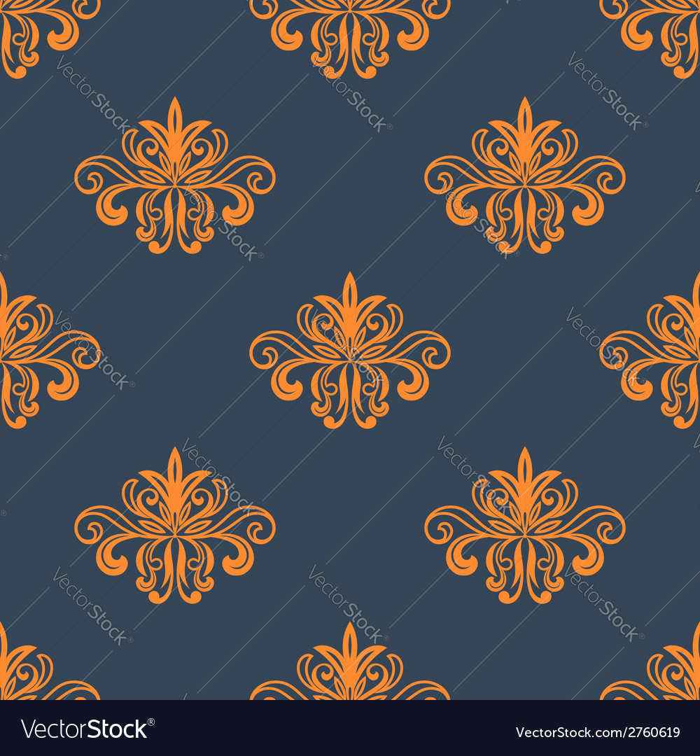 Retro orange seamless pattern vector | Price: 1 Credit (USD $1)