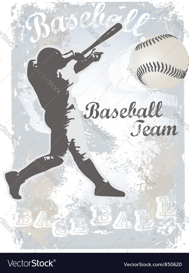 Base ball grunge 4 vector | Price: 1 Credit (USD $1)