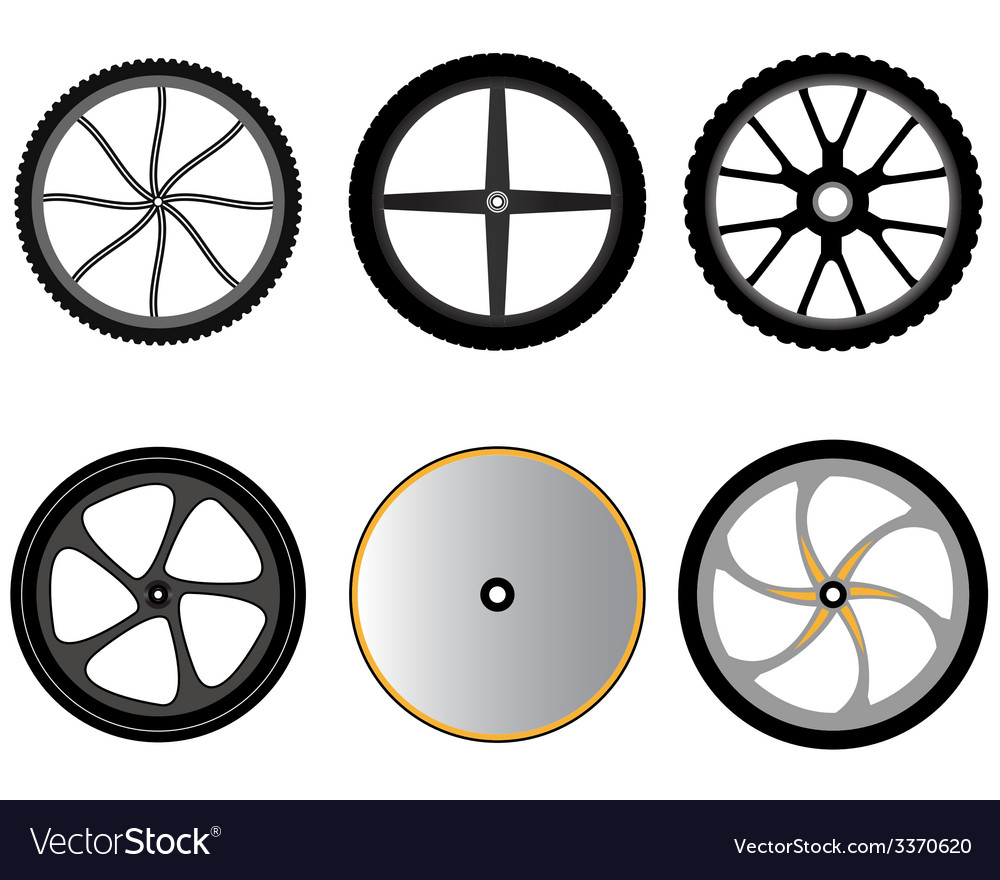 Bicycle wheels without spokes vector | Price: 1 Credit (USD $1)
