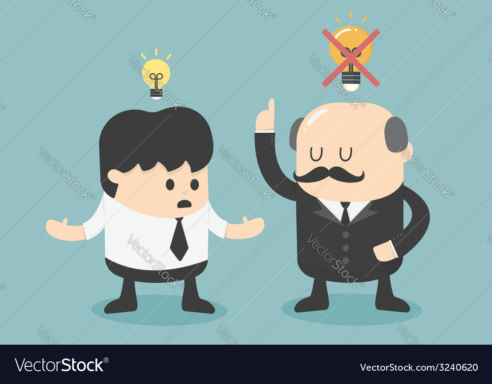 Boss dislike the ideas vector | Price: 1 Credit (USD $1)