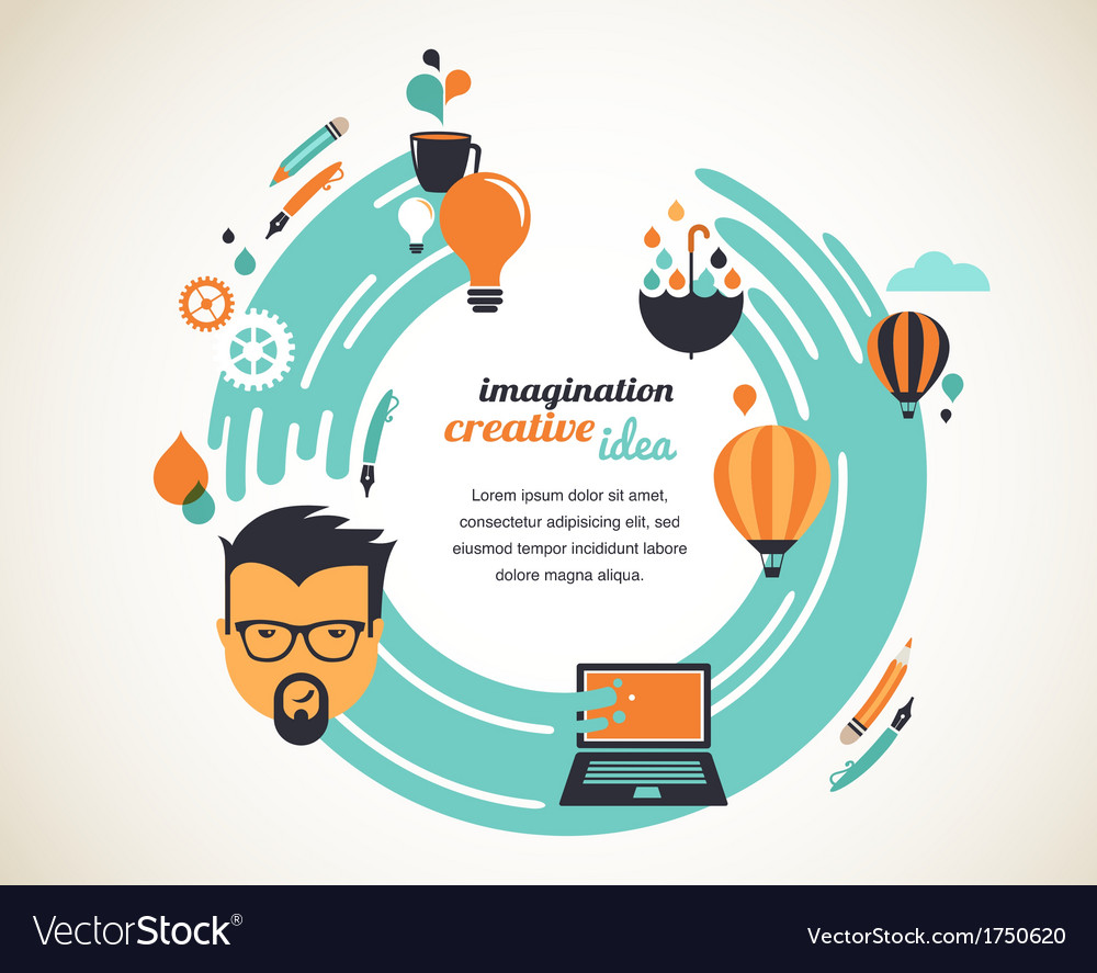 Design creative idea and innovation concept vector | Price: 1 Credit (USD $1)