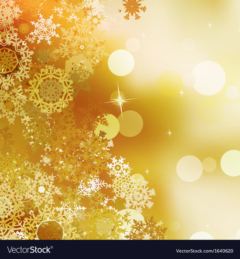 Festive gold christmas with bokeh lights eps 10 vector | Price: 1 Credit (USD $1)