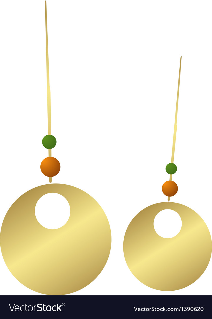 Icon earring vector | Price: 1 Credit (USD $1)