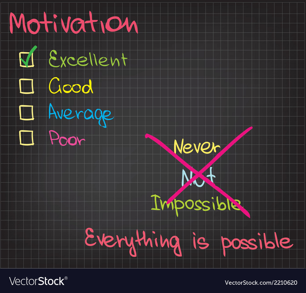 Motivation everything is possible vector | Price: 1 Credit (USD $1)