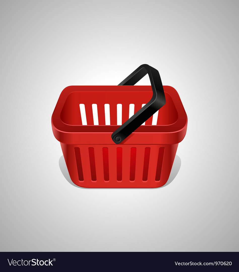 Red shopping basket icon vector | Price: 3 Credit (USD $3)