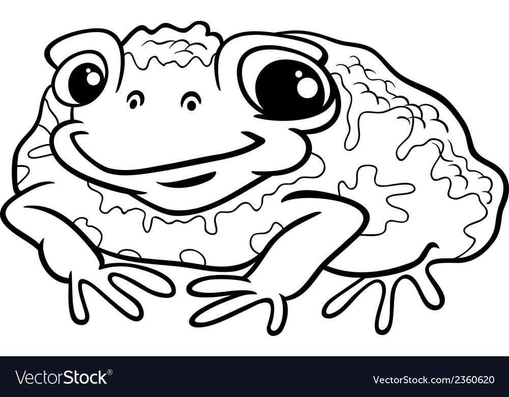 Toad cartoon coloring page vector | Price: 1 Credit (USD $1)