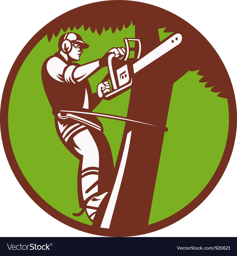 Arborist tree surgeon vector | Price: 3 Credit (USD $3)