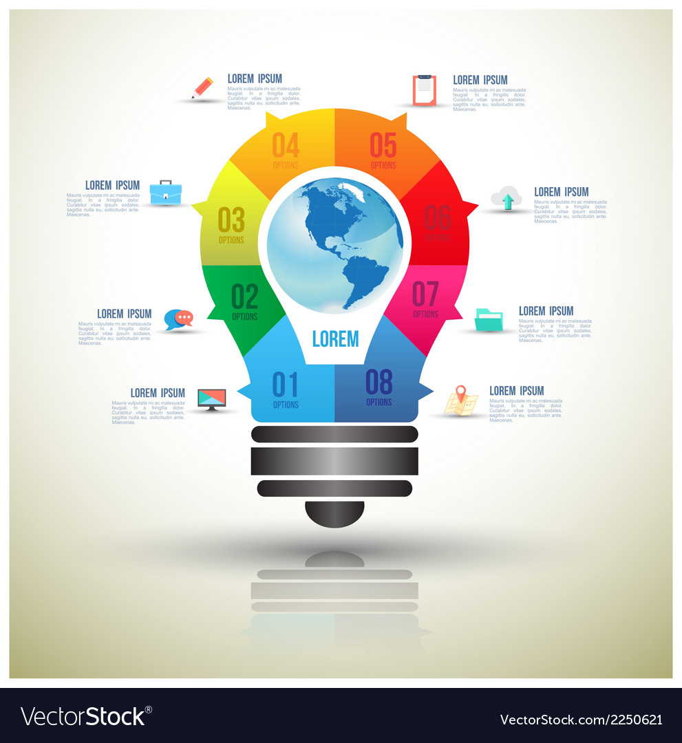 Bulb infographics design template vector   Price: 1 Credit (USD $1)