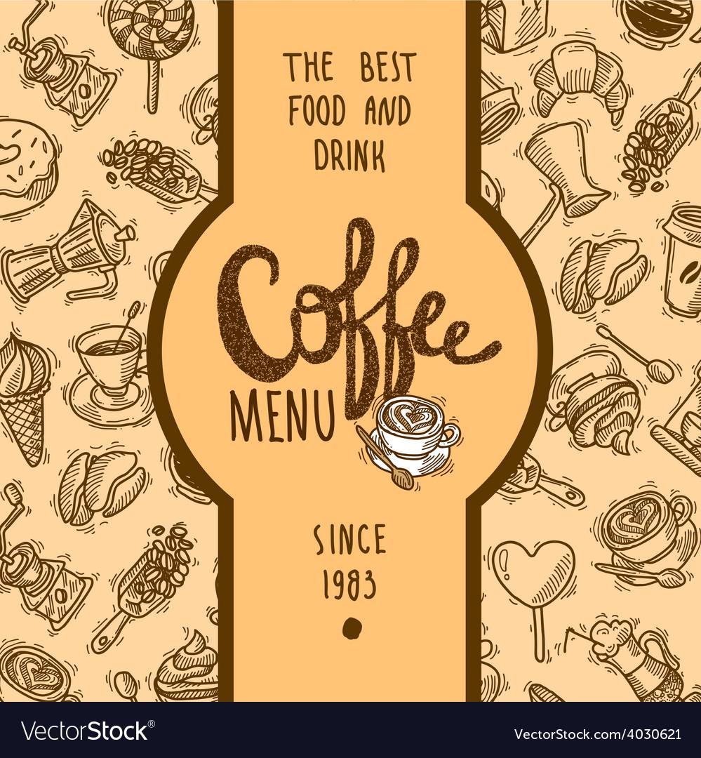 Coffee menu label vector | Price: 1 Credit (USD $1)