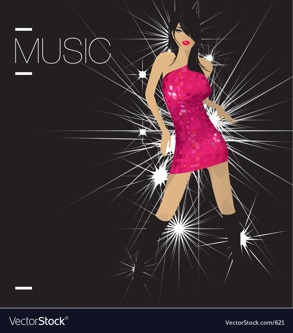 Dancerfloor diva vector | Price: 1 Credit (USD $1)