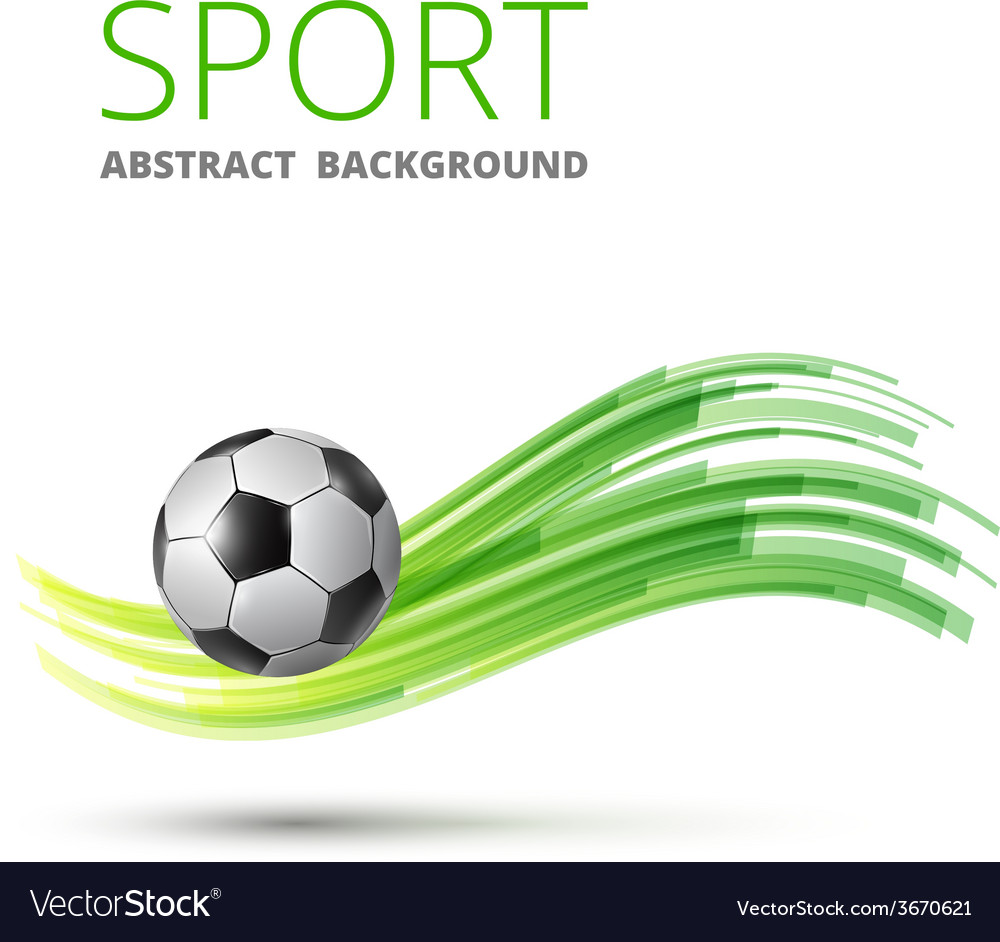 Design with football vector | Price: 1 Credit (USD $1)