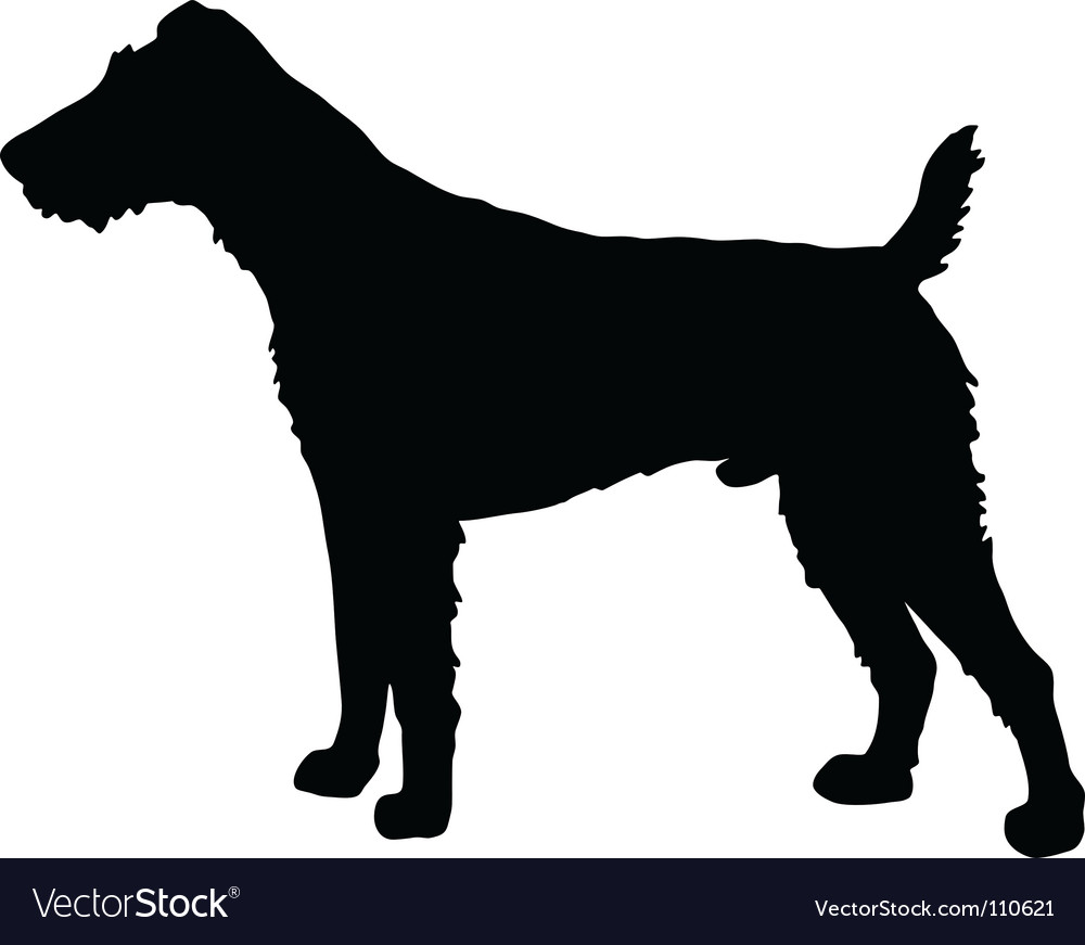Fox terrier silhouette vector | Price: 1 Credit (USD $1)