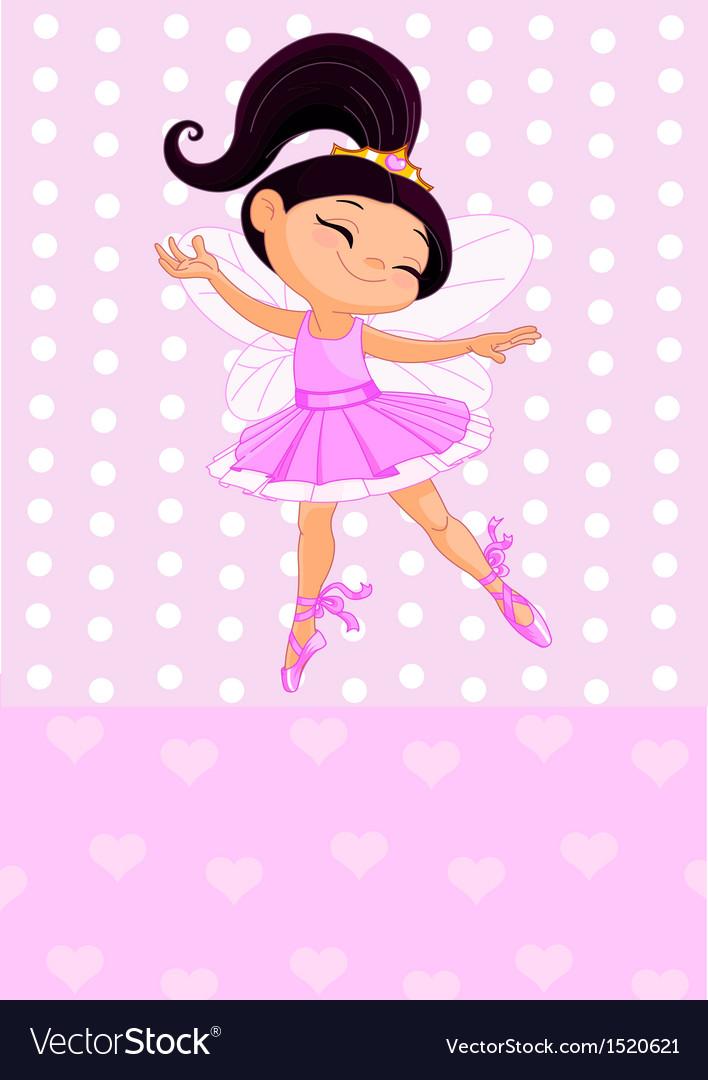 Little brunet princess vector | Price: 1 Credit (USD $1)