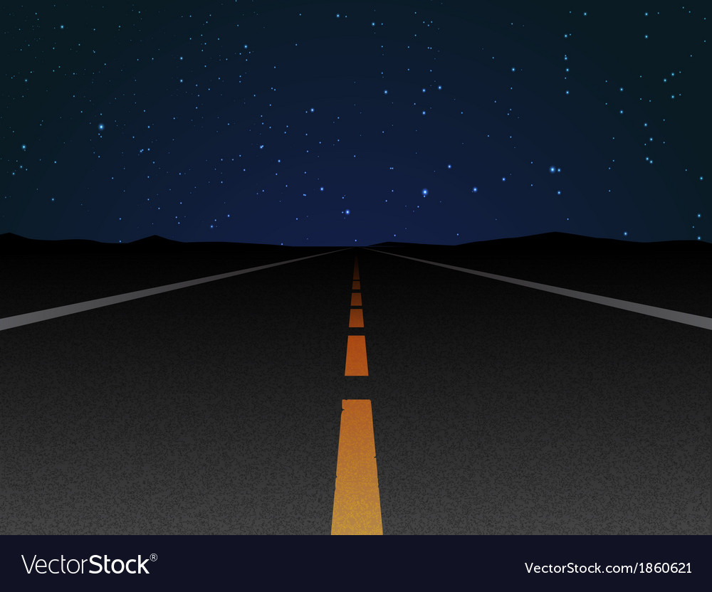 Night road vector | Price: 1 Credit (USD $1)