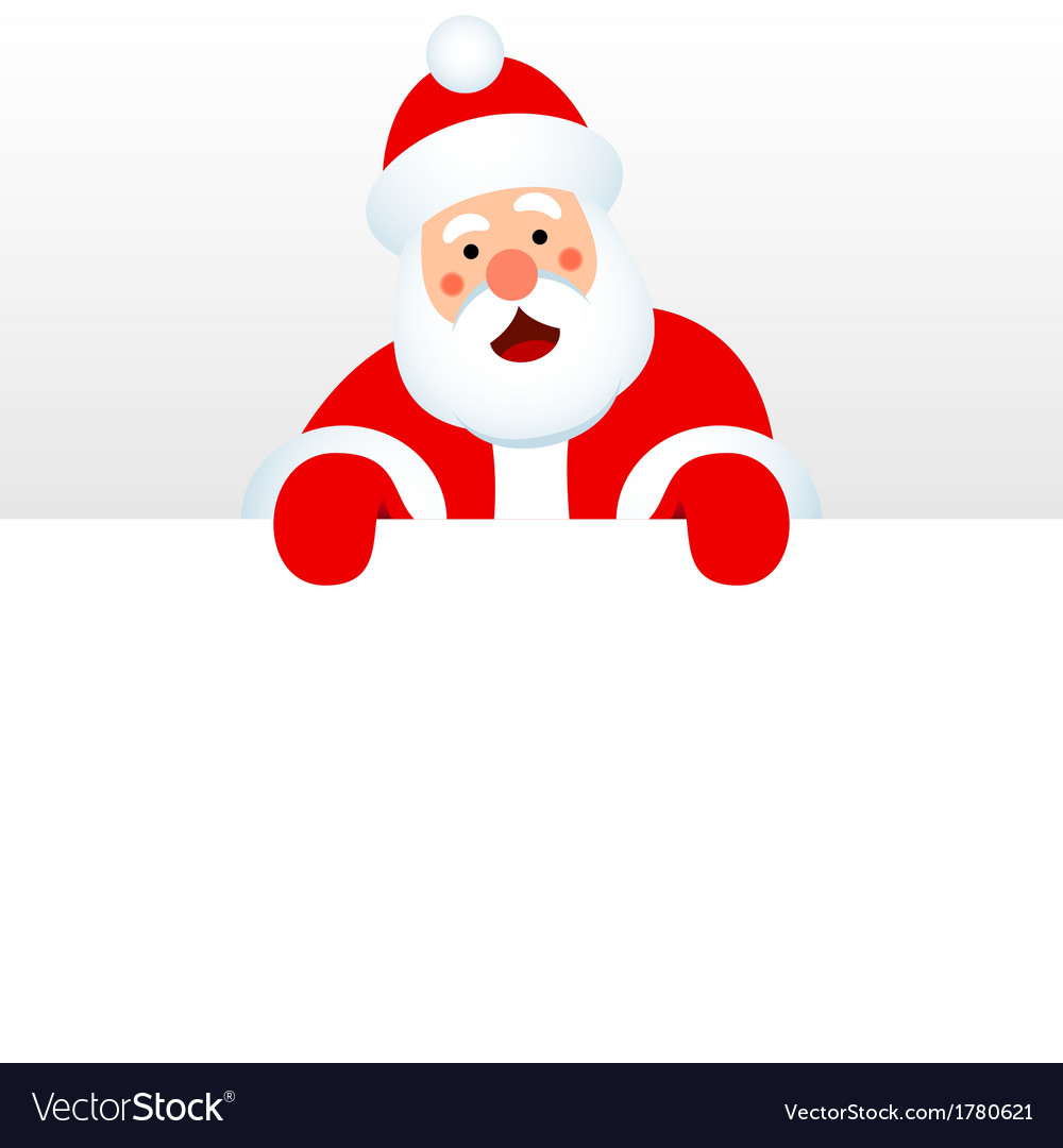 Santa claus over white blank vector | Price: 1 Credit (USD $1)