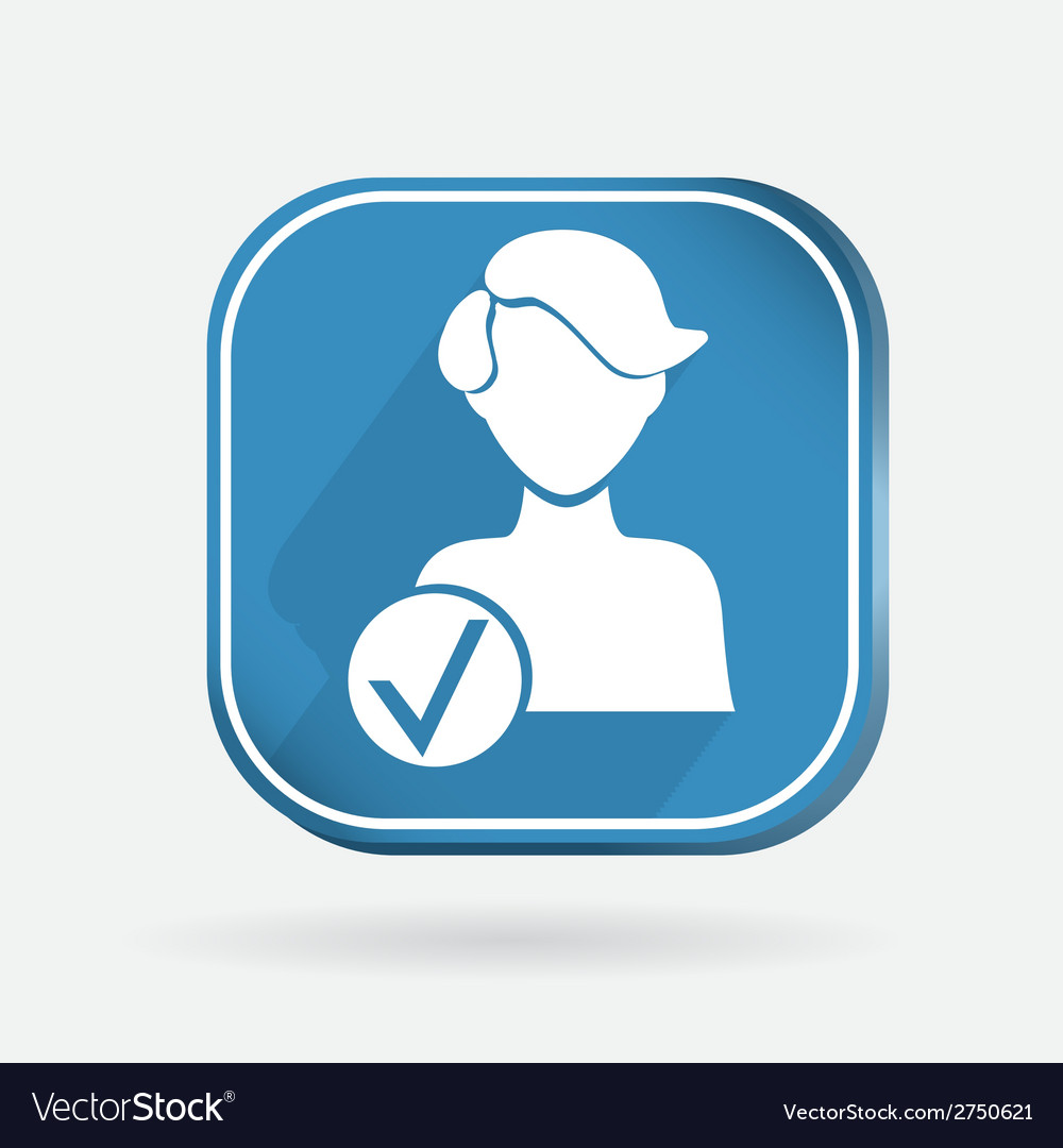 Square icon add friend vector | Price: 1 Credit (USD $1)