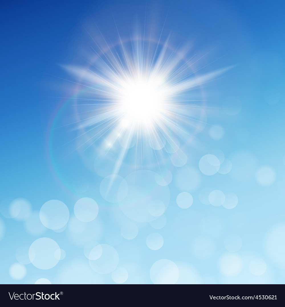 The sun in the blue sky eps 10 vector | Price: 1 Credit (USD $1)