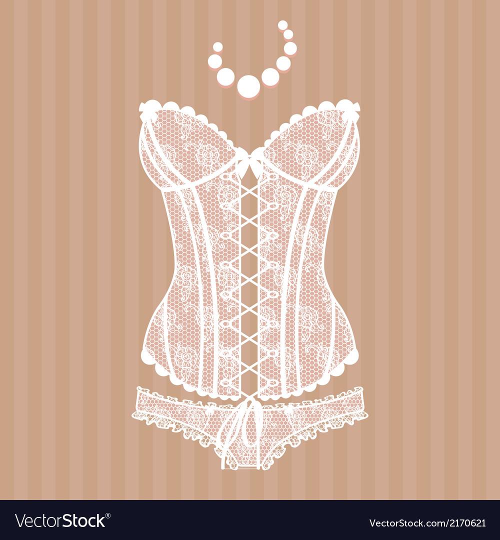 Vintage sexy guipure corset vector | Price: 1 Credit (USD $1)