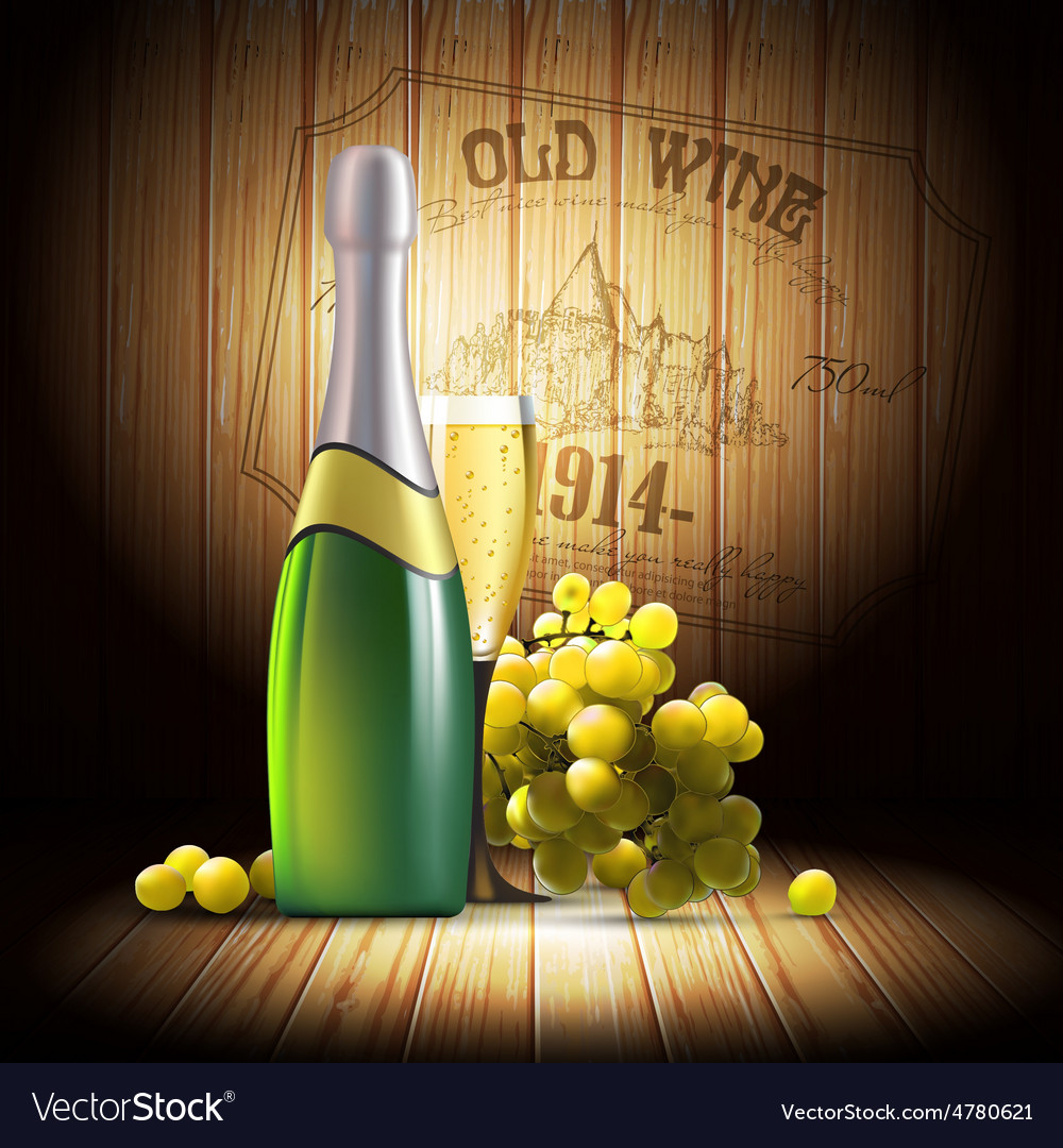 Wine and grapevine vector | Price: 5 Credit (USD $5)
