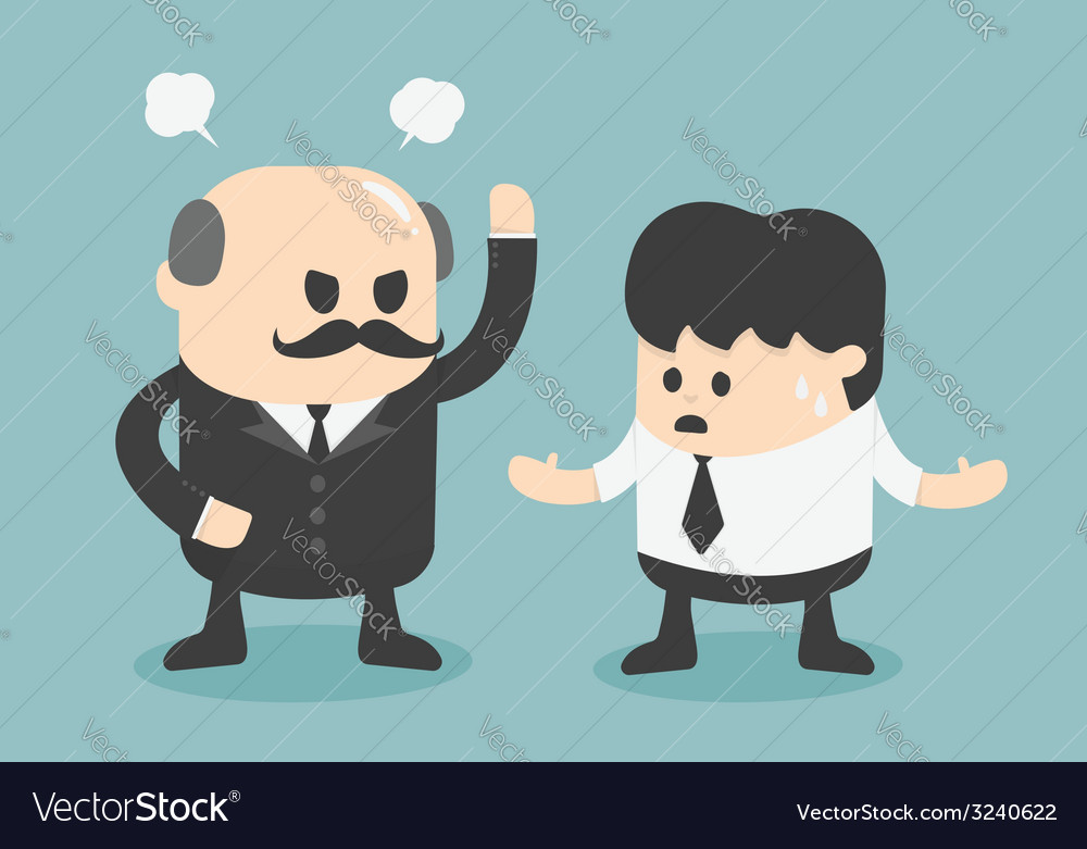 Angry boss concept vector | Price: 1 Credit (USD $1)
