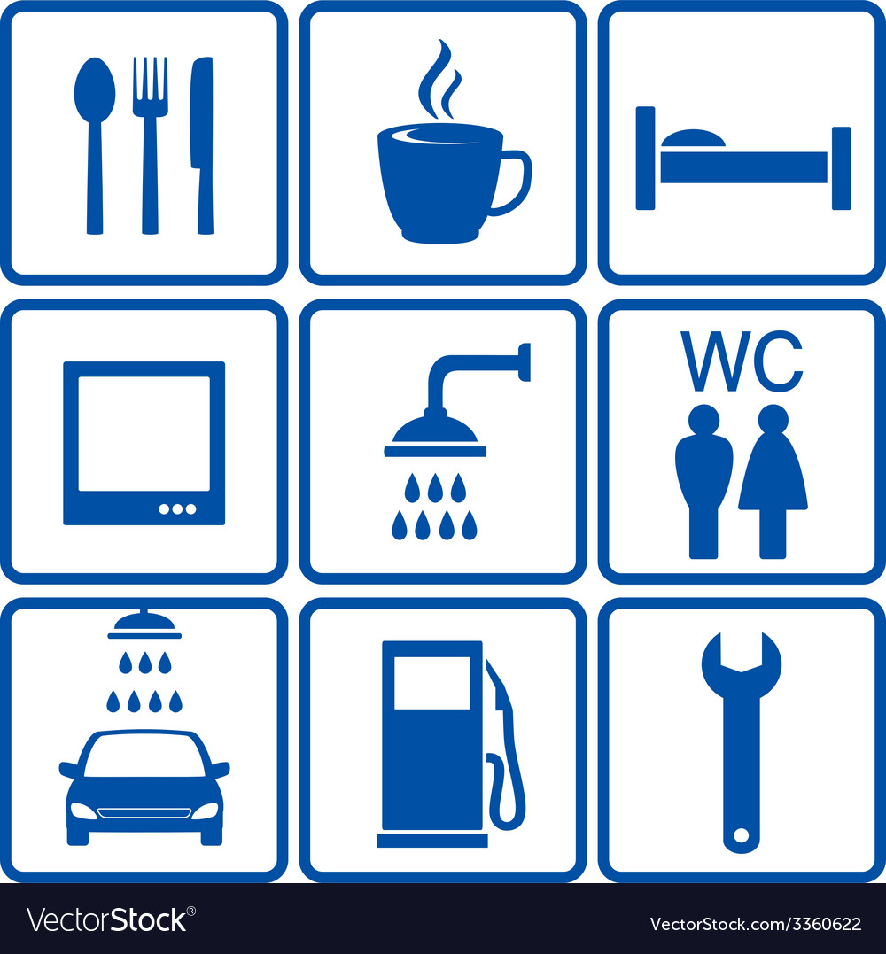 Automotive road signs vector | Price: 1 Credit (USD $1)