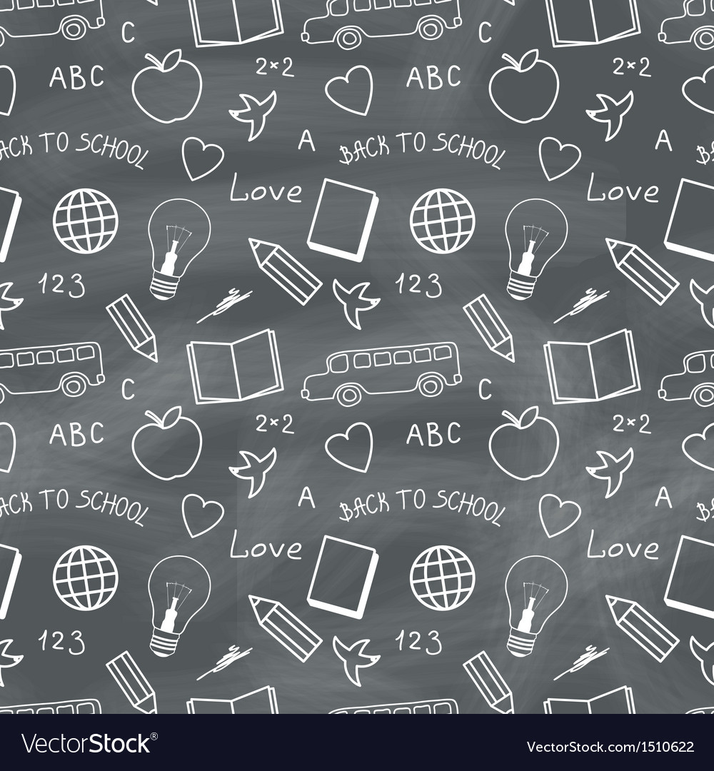 Back to school chalkboard pattern vector | Price: 1 Credit (USD $1)