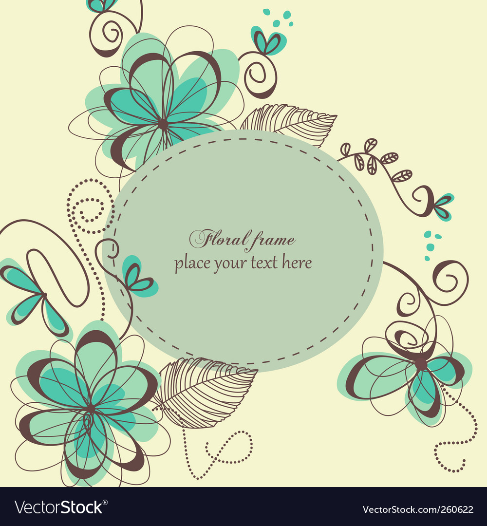 Decorative retro card vector | Price: 1 Credit (USD $1)