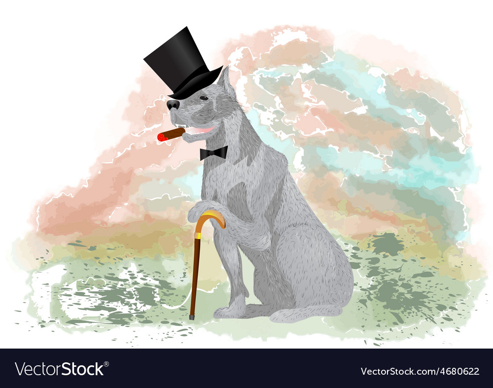 Dog gentleman vector | Price: 1 Credit (USD $1)