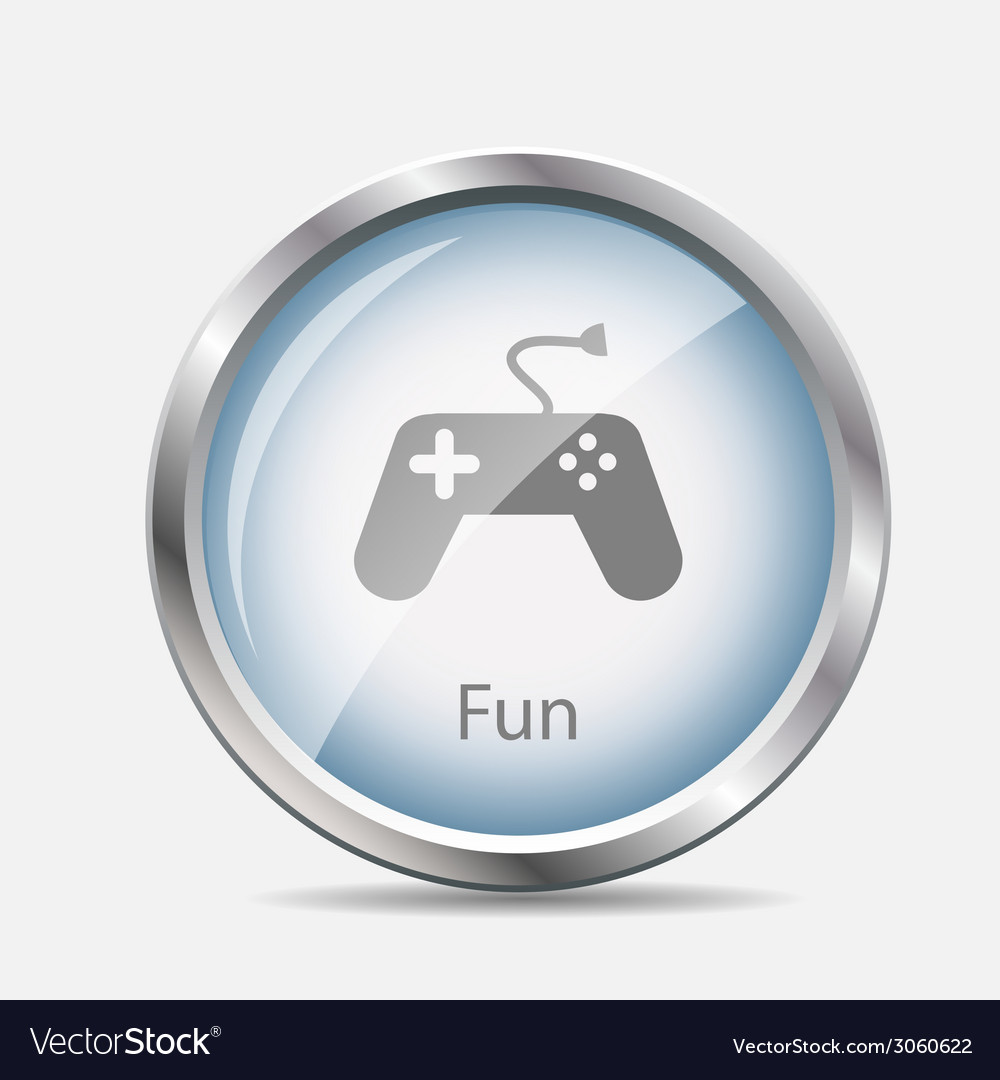 Game and fun glossy icon vector | Price: 1 Credit (USD $1)