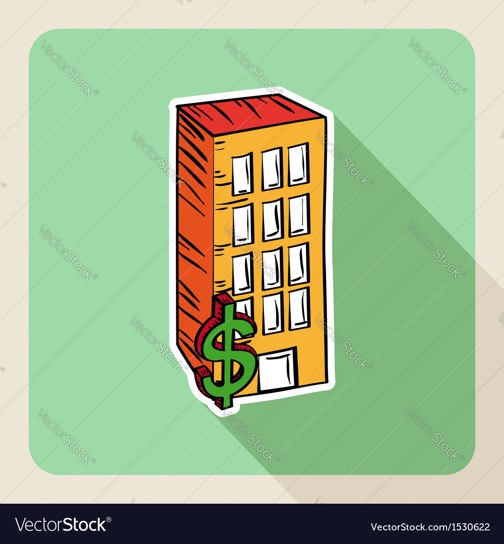 Hand drawn real estate property concept vector | Price: 1 Credit (USD $1)