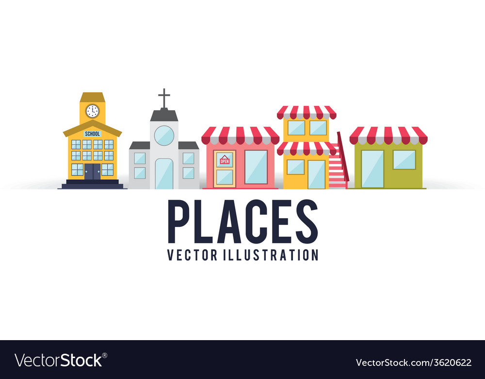 Places vector | Price: 1 Credit (USD $1)