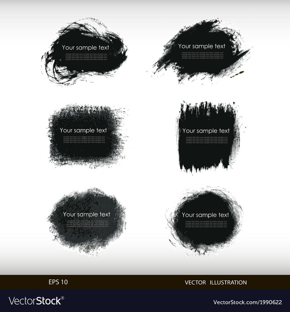 Splash banners set vector | Price: 1 Credit (USD $1)