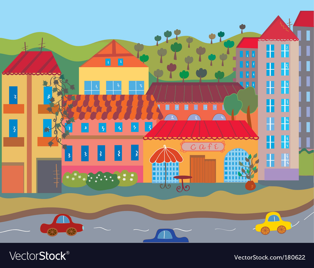 Summer city vector | Price: 3 Credit (USD $3)